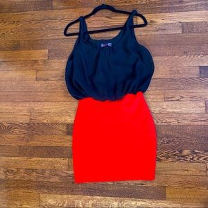 Body Central Dress Black and Red size medium